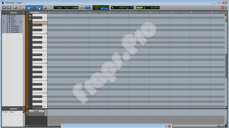 Редактор MIDI