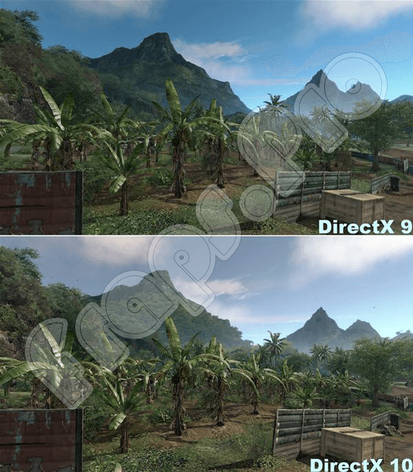 Сравнение DirecX 10 и DirecX 9