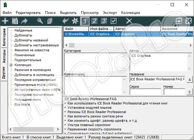 ICE Book Reader 9.6.4 Professional Russian для Windows 10