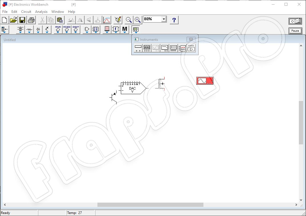 Electronic Workbench 5.12 для Windows 7, 8, 10