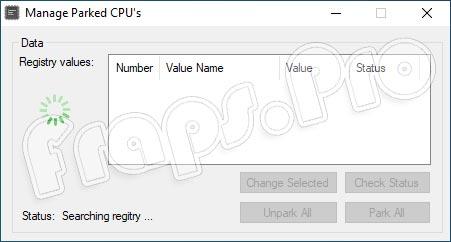 Unpark CPU для Windows 10