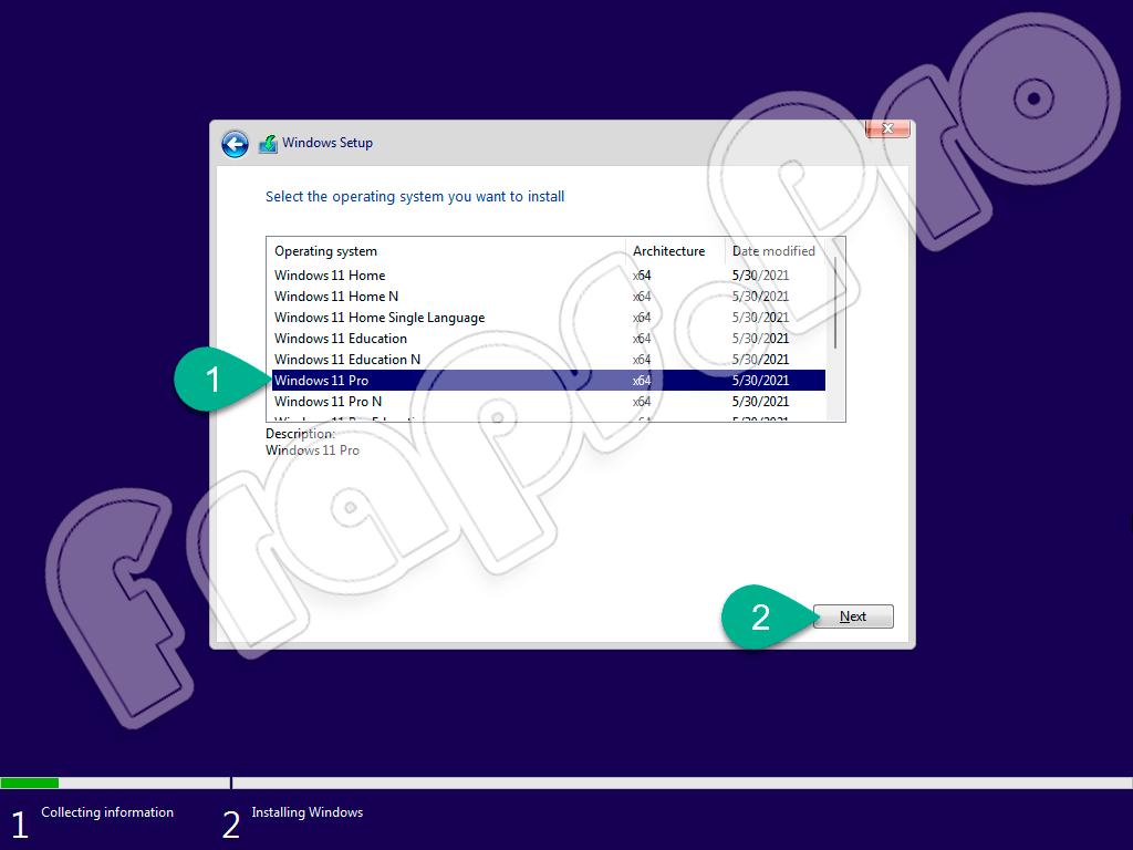 Выбор версии Windows 11 Pro